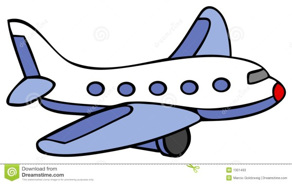 airplane - cartoon stock vector