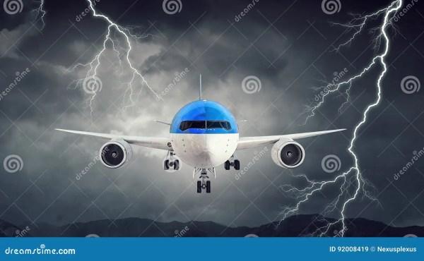 Airliner In Night Sky Stock Cartoondealer