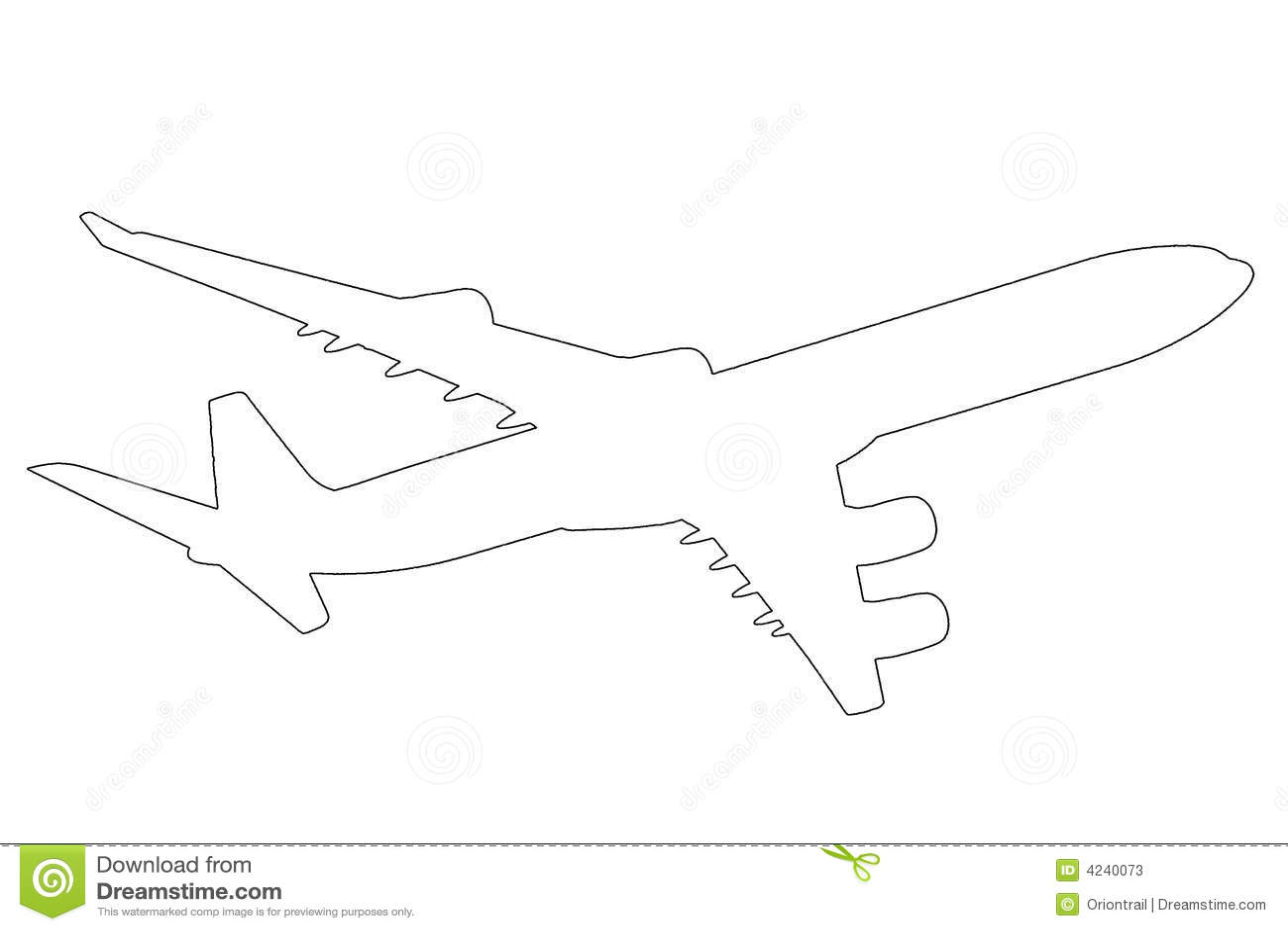 Airplane Outline Illustration Stock Photos