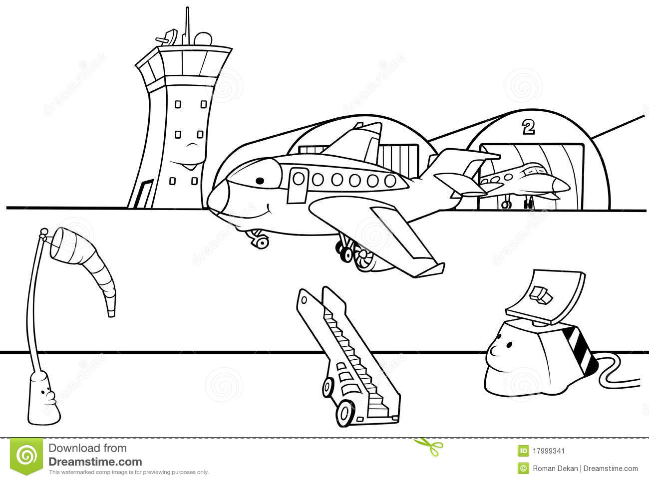 Airport Runway Stock Vector Illustration Of Clipart