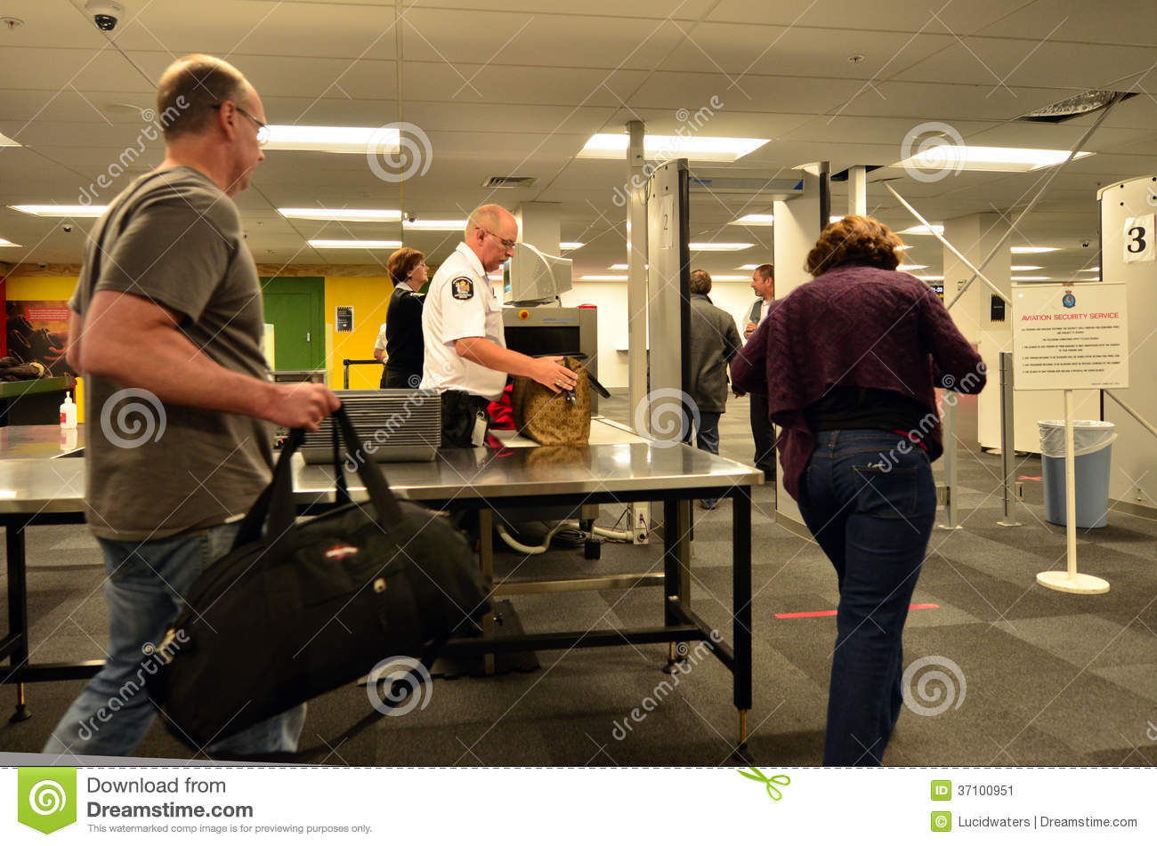 Airport security station editorial photo Image of scan