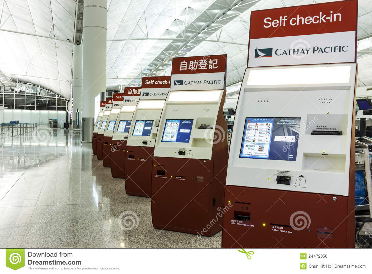 Airport Self Check-in System Editorial Image - Image of hong, international: 24472050