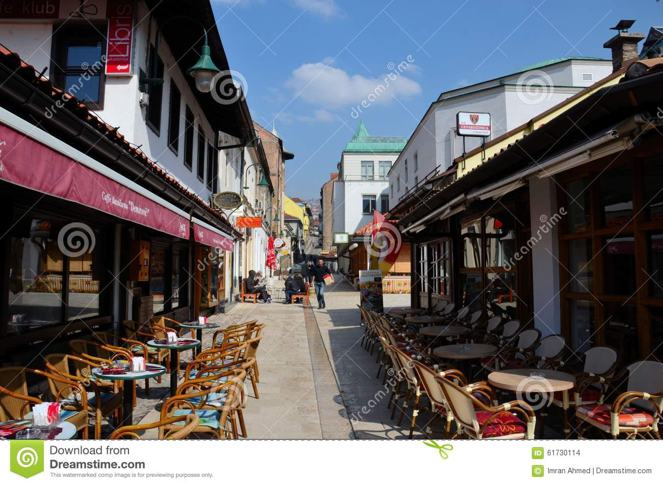red chairs sarajevo office chair back massager al fresco dining tables in main bazaar