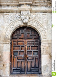 The Alamo's Front Door stock image. Image of city