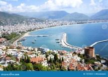 Alanya Turkey Stock Of Beach City Boat