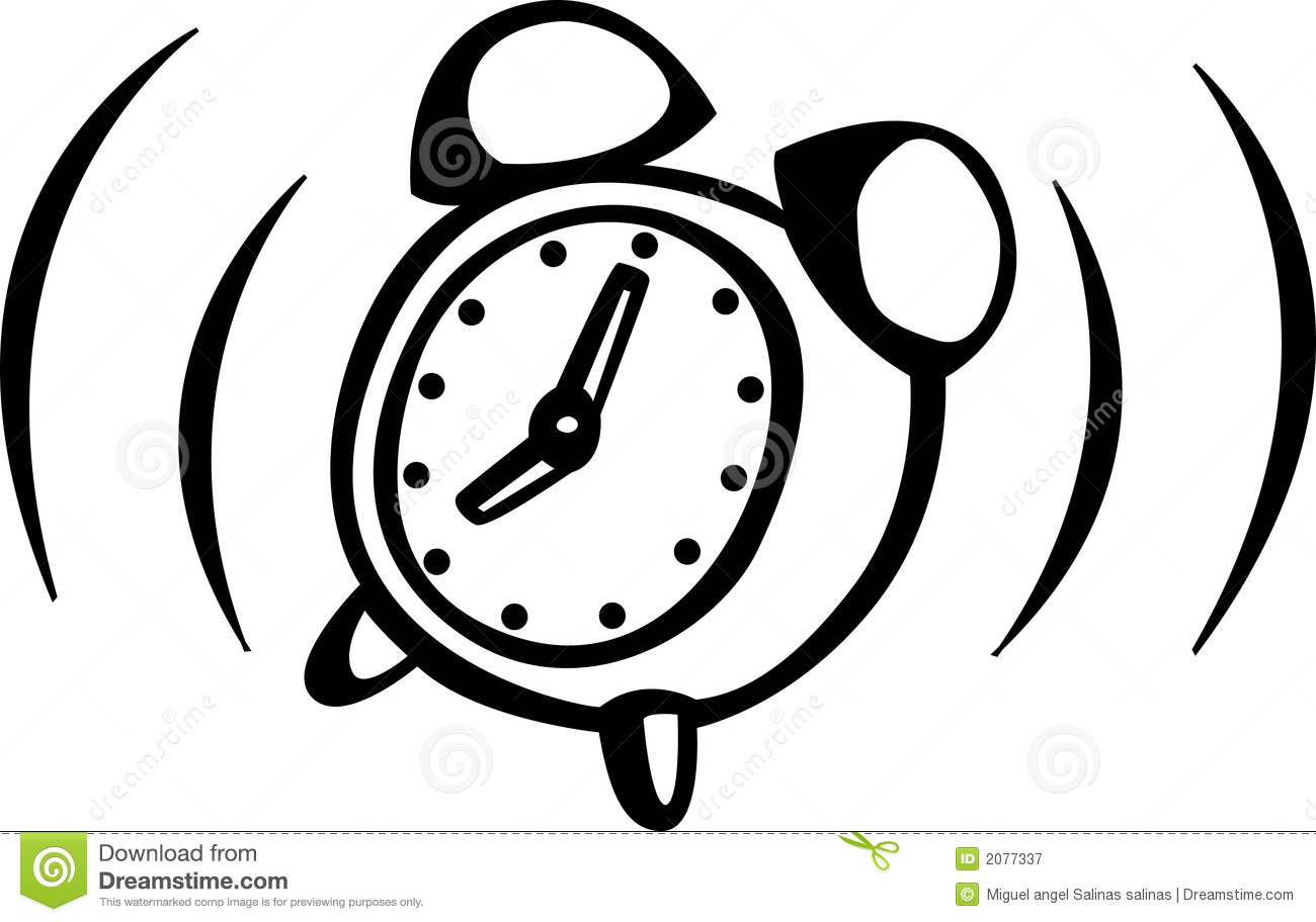 Alarm Clock Ringing Vector Illustration Royalty Free Stock