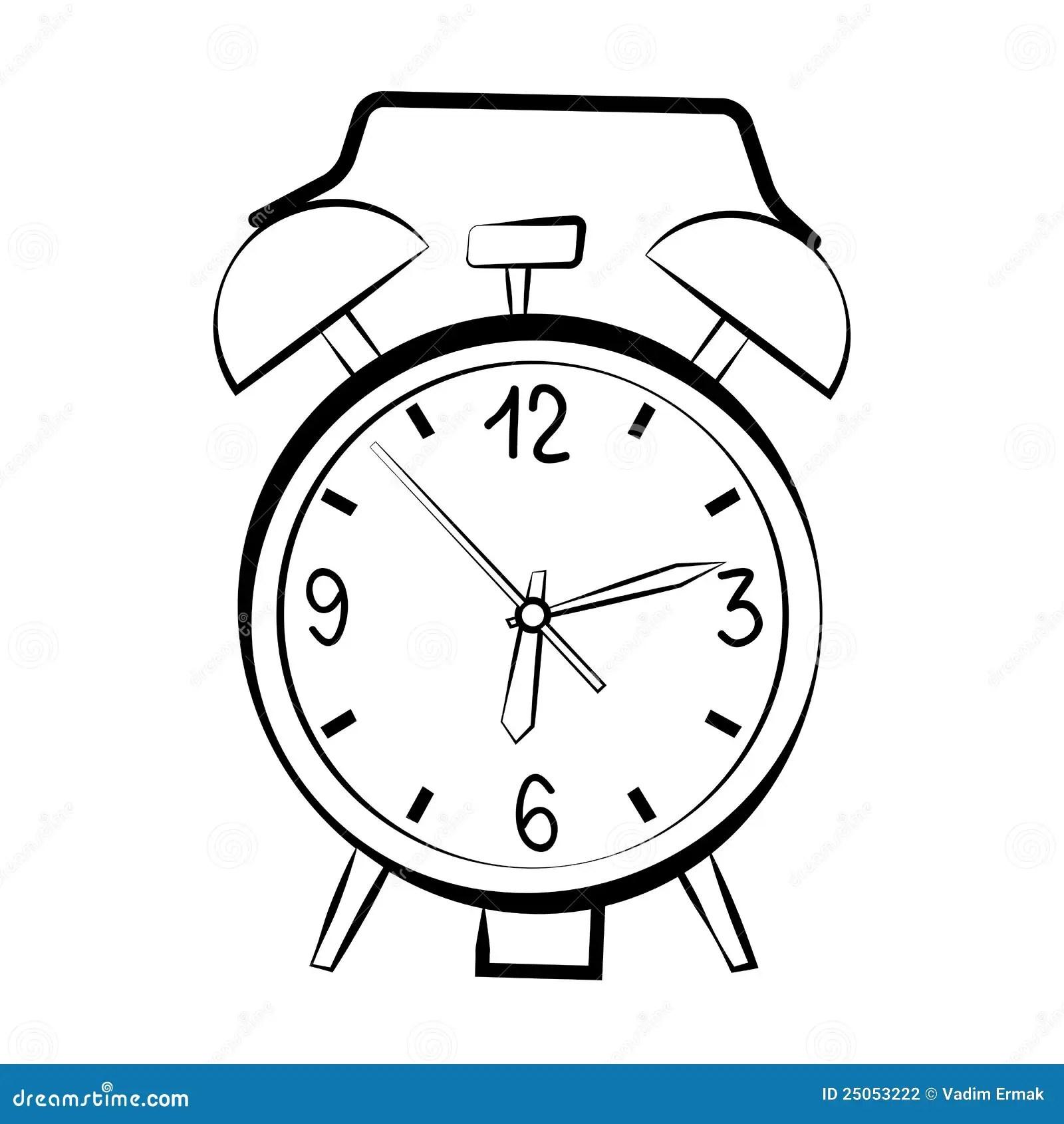 Alarm Clock Sketch Stock Photography