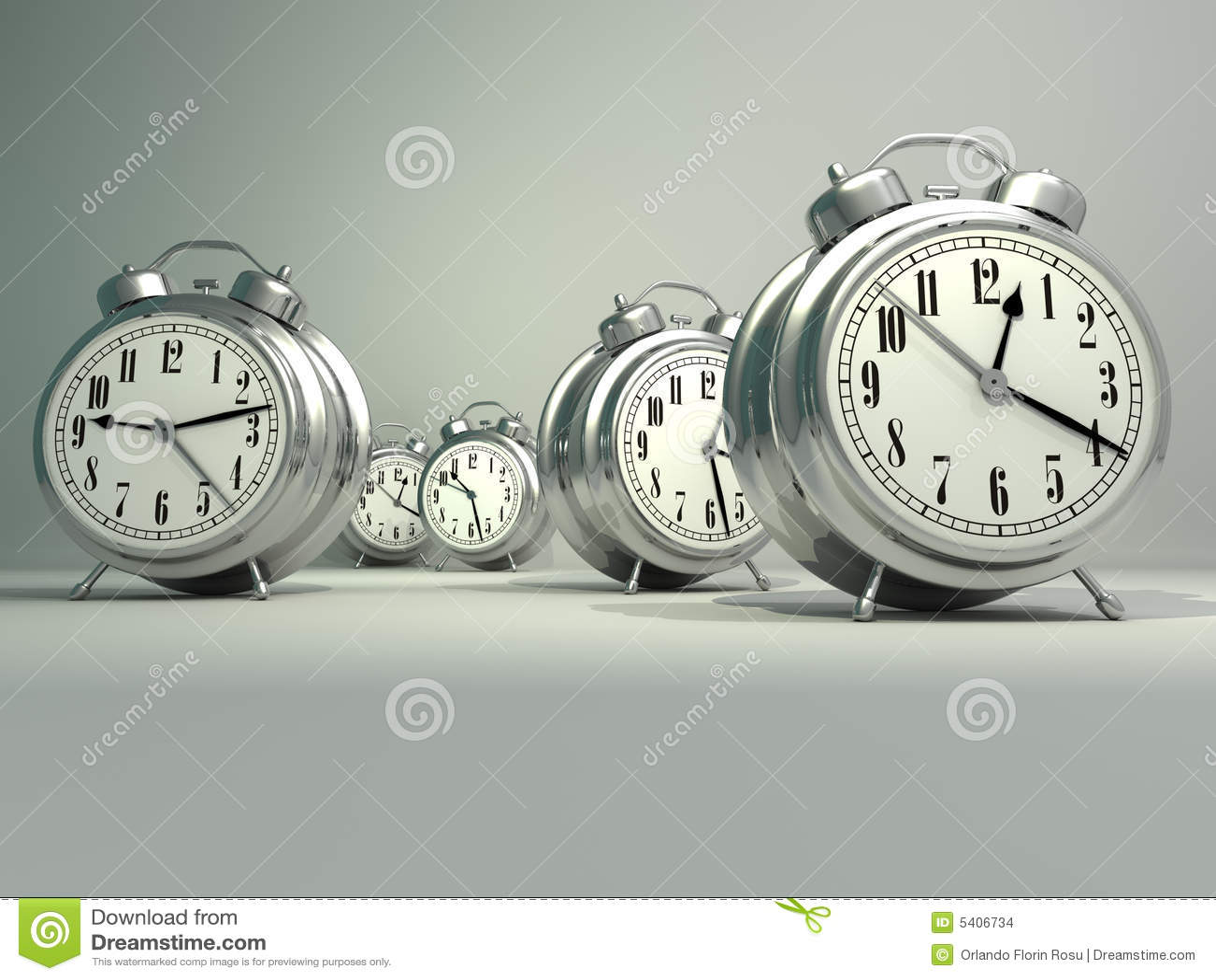 alarm clocks stock illustration
