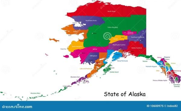 Alaska map stock vector Image of contour geography