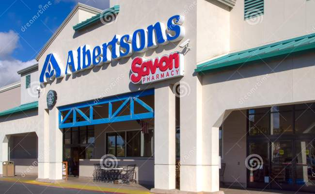 Albertsons Grocery Store Exterior Editorial Photography