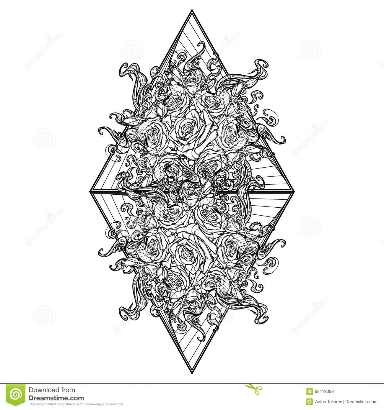Alchemic Element Of Fire Sign Triangle Pointing Up With