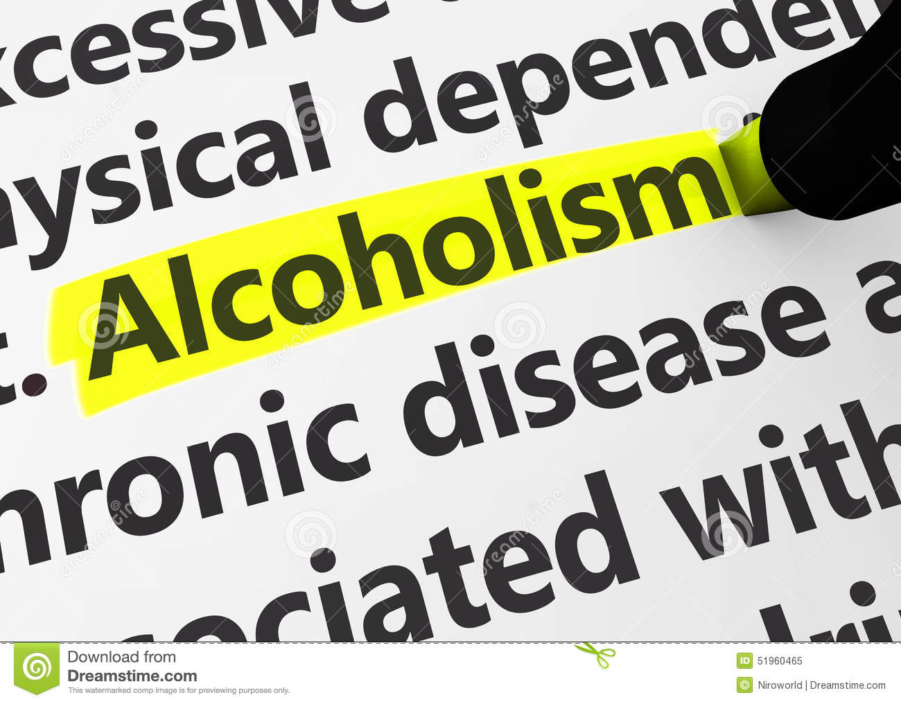Alcoholism Addiction Social Issues Stock Photo
