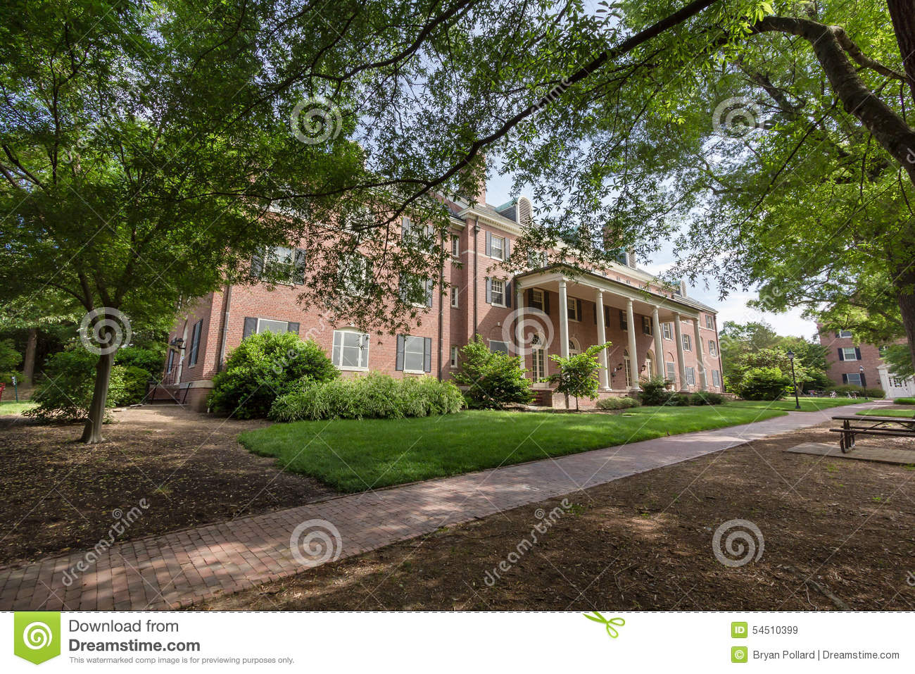 Alderman Residence Hall At Unc Editorial Stock Image