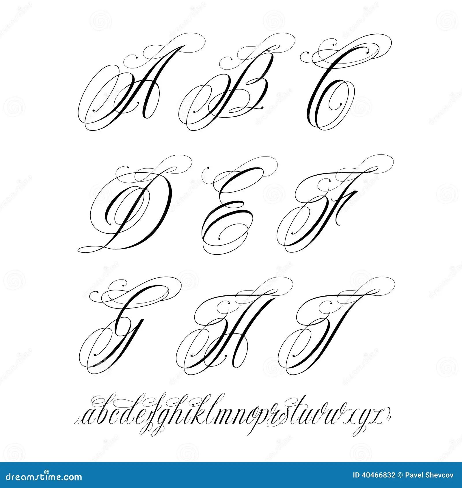 Tatuaje Abc Ilustración Del Vector Ilustración De Manuscrito 40545522
