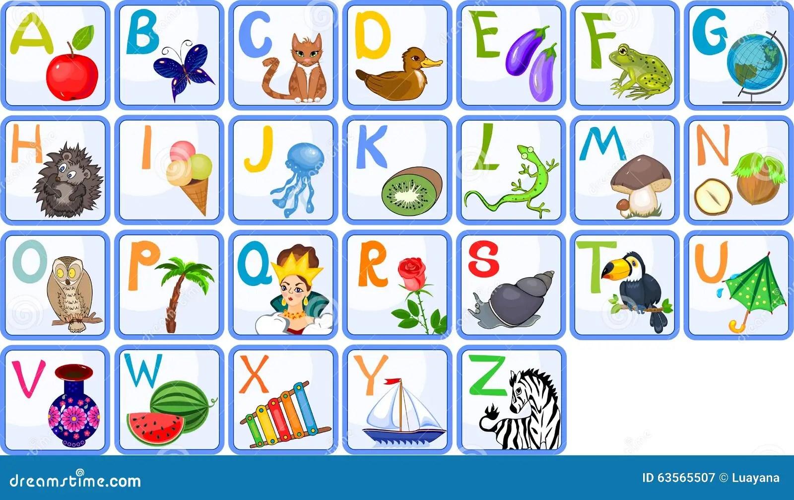 Alfabeto Ingles Ilustracion Del Vector Ilustracion De
