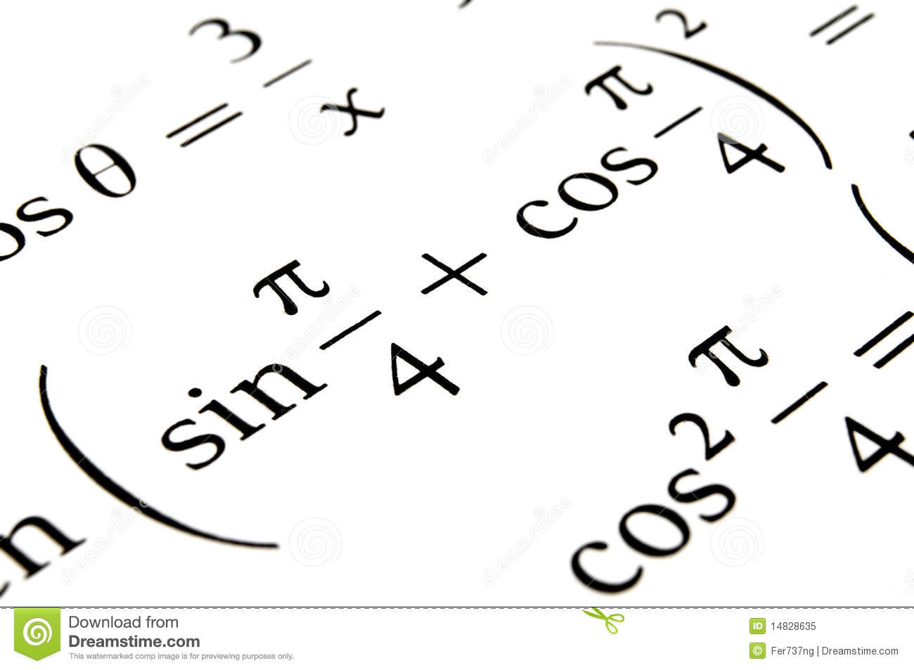 Algebra Formulas Close Up. Royalty Free Stock Photo
