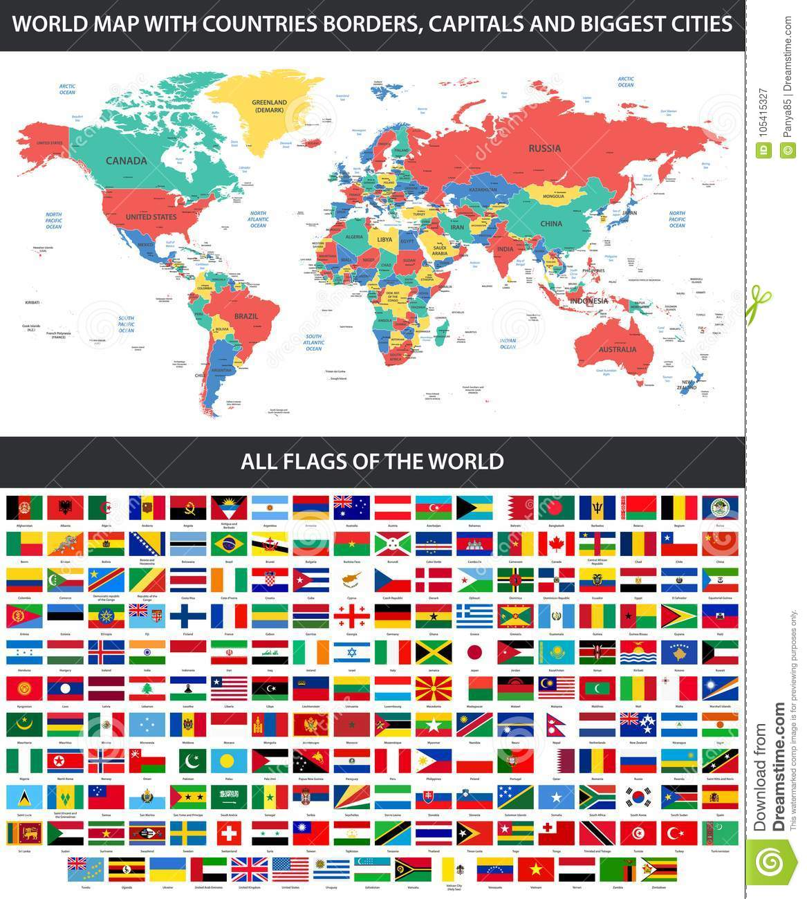 All Flags Of The World In Alphabetical Order And Detailed