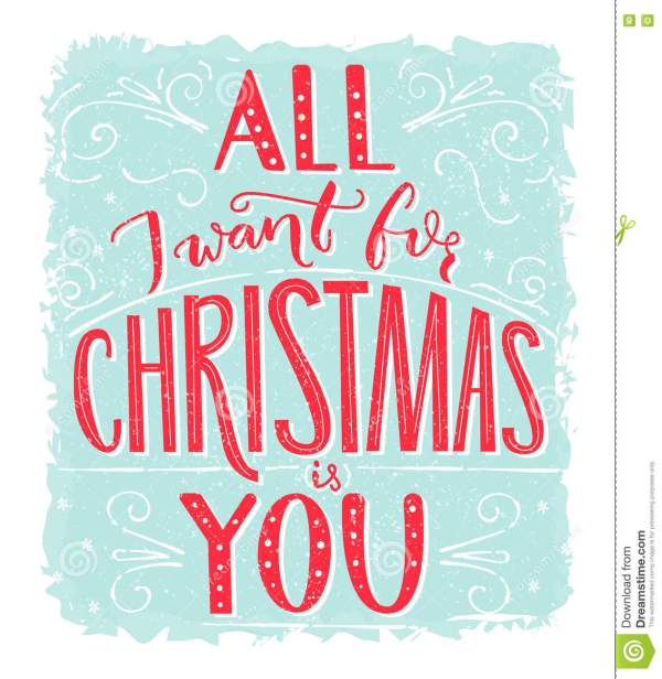 All I Want For Christmas Is You Greeting Card With