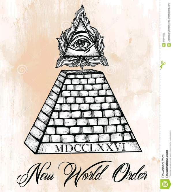 All Seeing Eye Pyramid Symbol Stock Vector Illustration