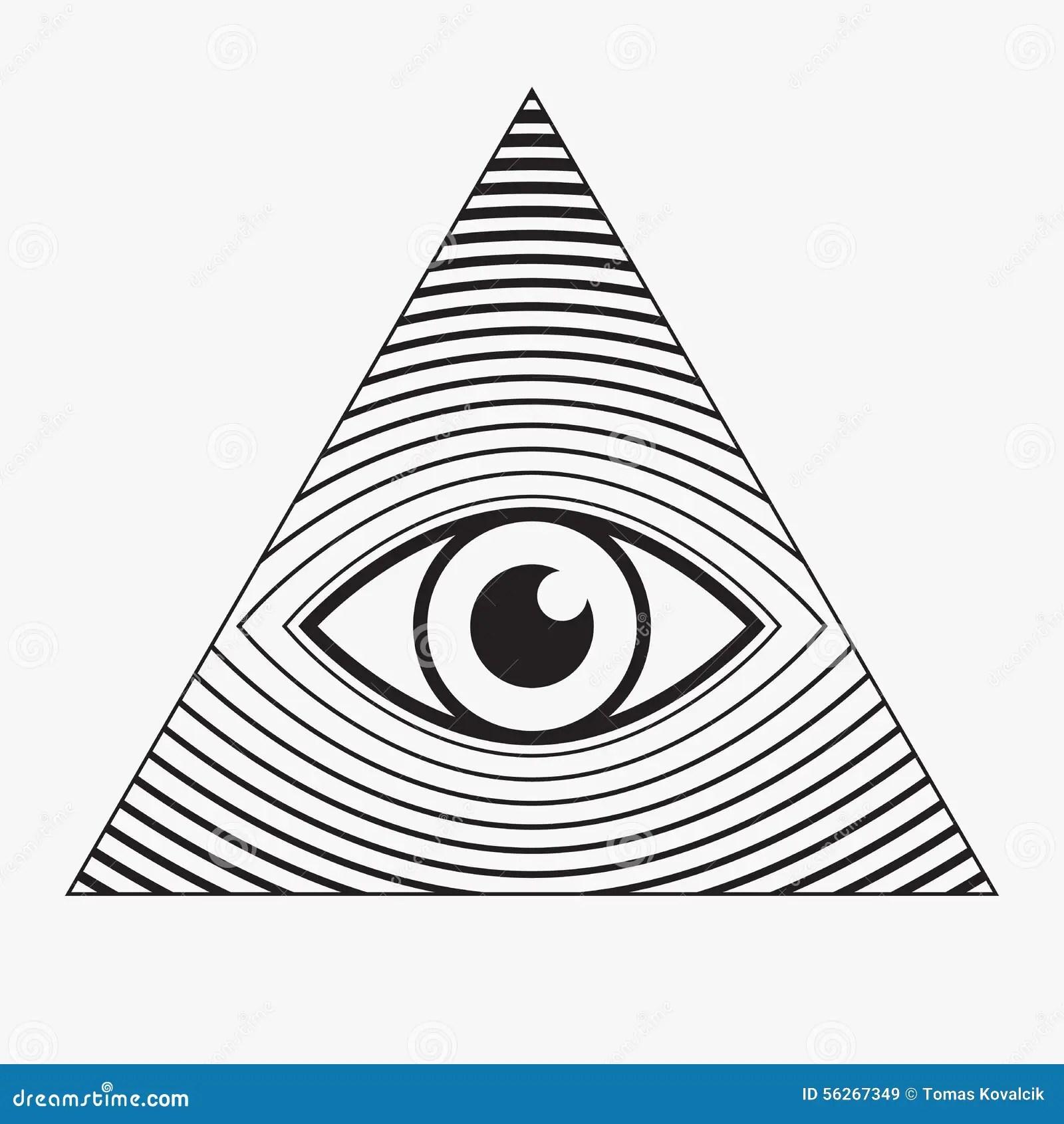 All Seeing Eye Symbol Stock Vector