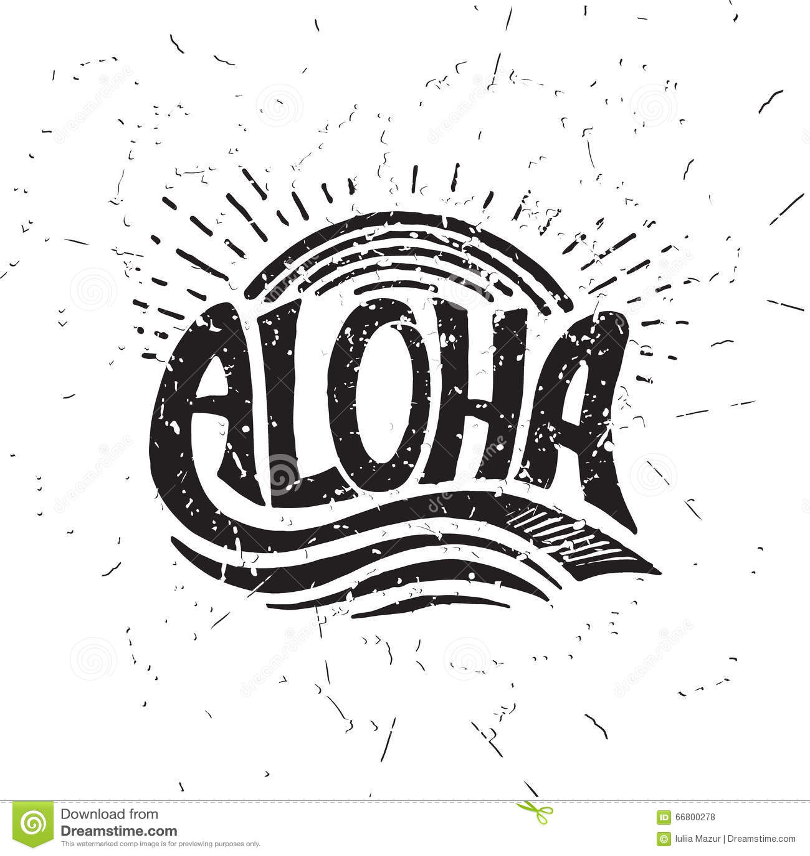 Aloha Vector Illustration Of Tiki Mask With Surf Boards
