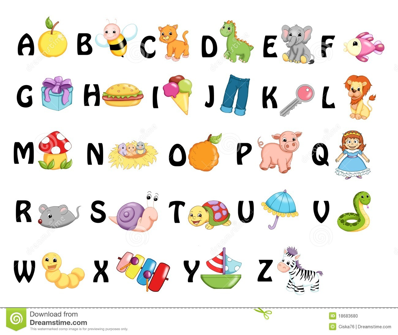 Alphabet Stock Illustration Illustration Of Icon Child