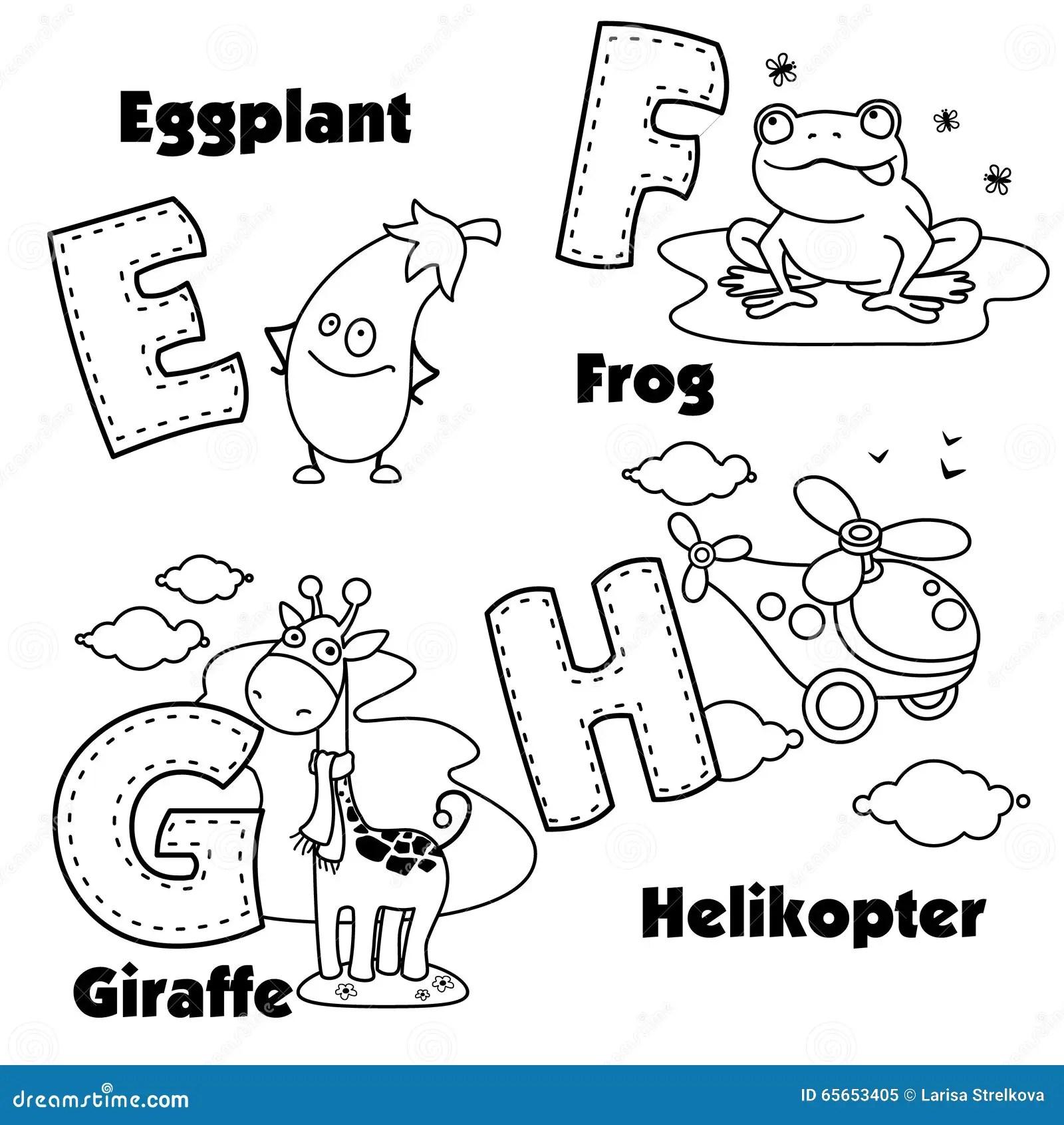 Alphabet Anglais Et Les Lettres E F G Et H Illustration