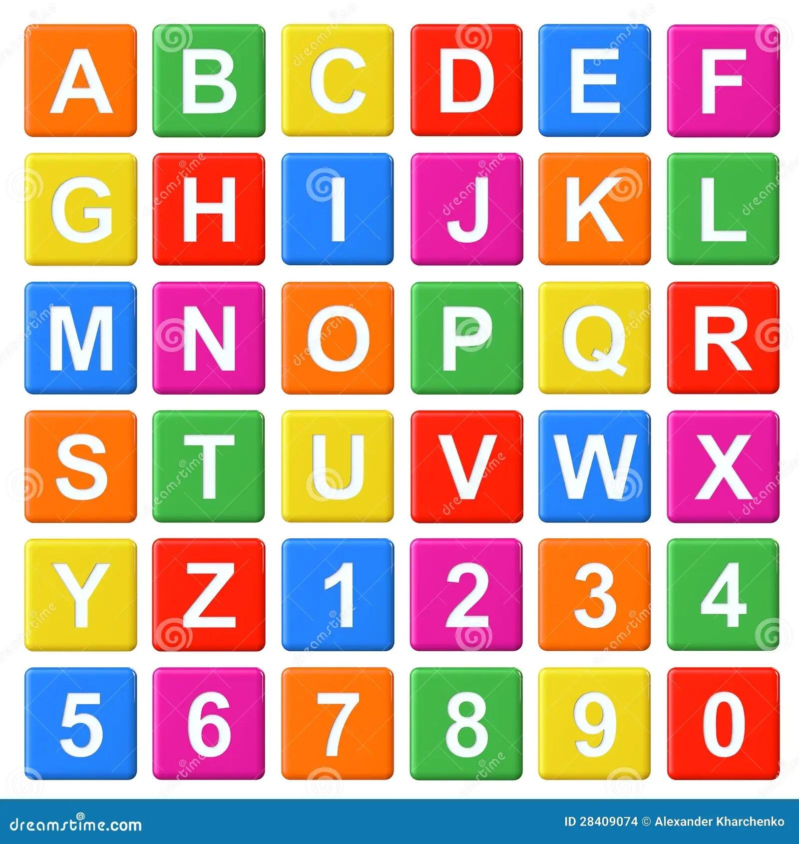 Alphabet Baby Blocks Stock Illustration Image Of Letters