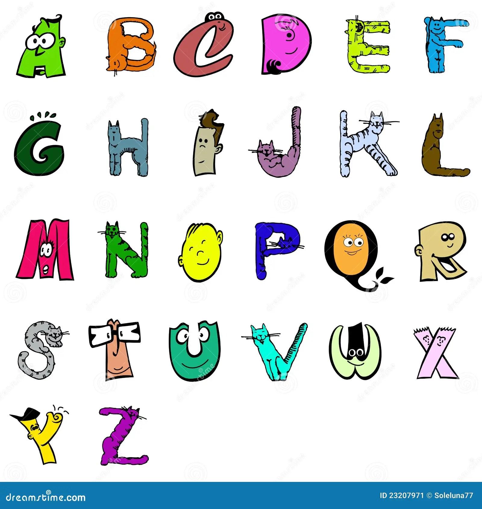 Alphabet Cartoon Stock Vector Image Of Lesson Word