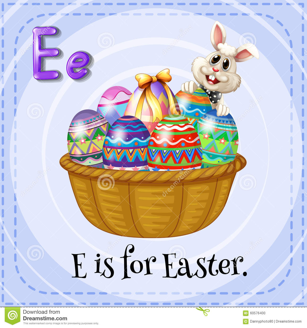 Alphabet E Is For Easter Stock Vector