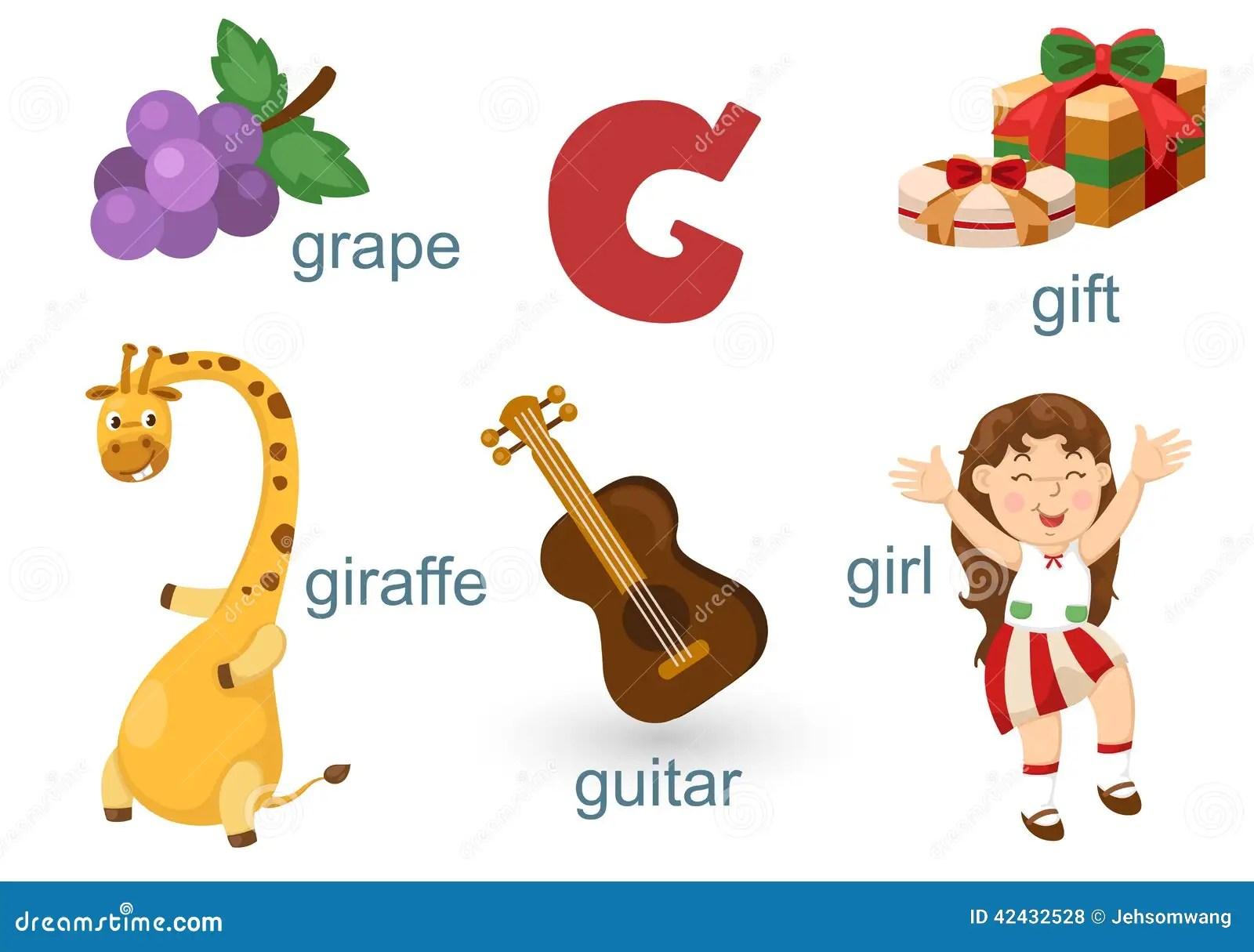 Alphabet G Stock Vector Illustration Of Idea Animal