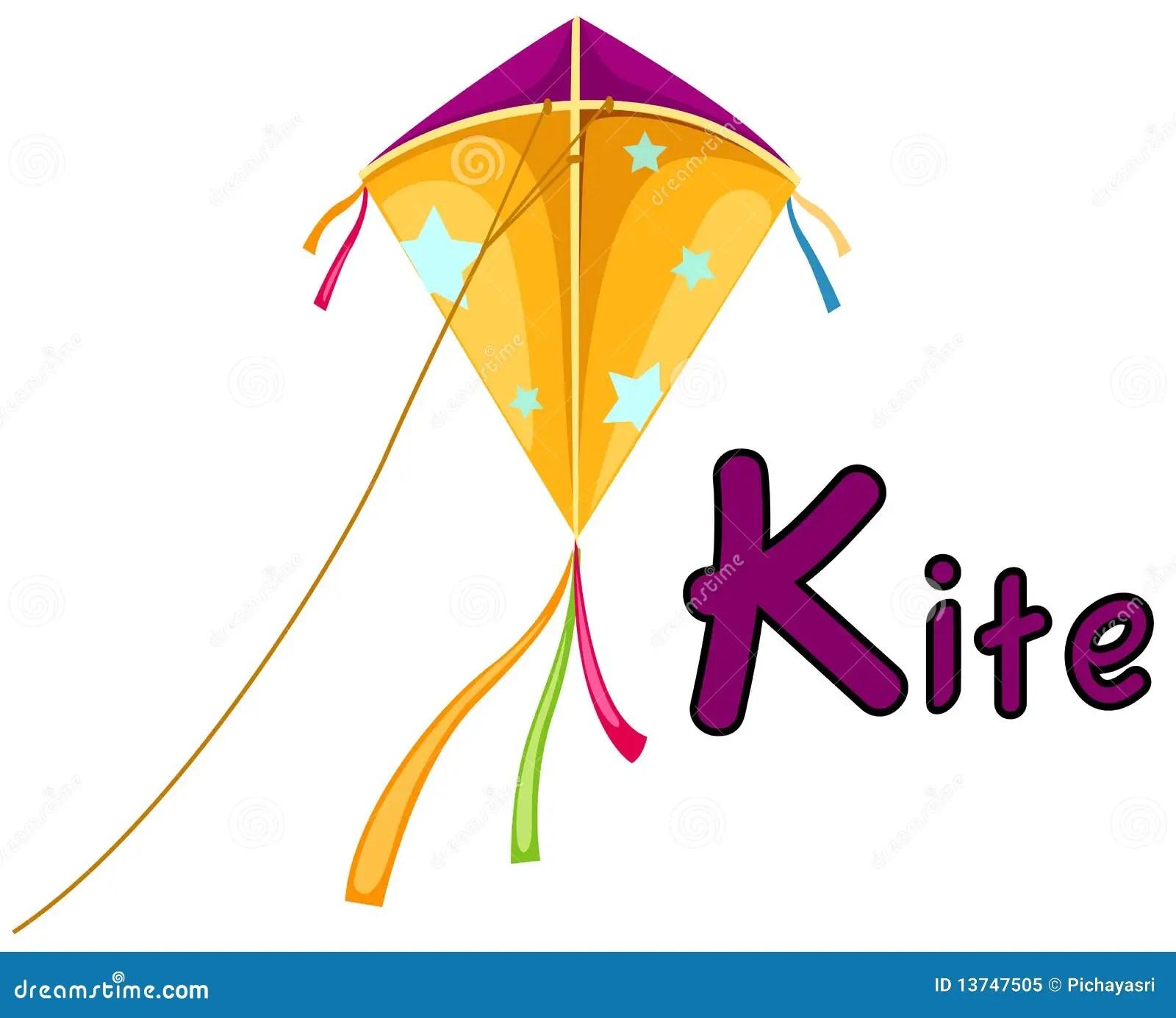 Alphabet K For Kite Stock Vector Illustration Of