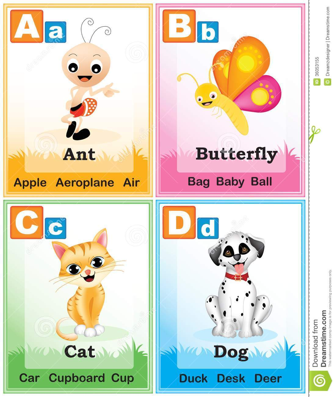 Alphabet Learning Book Page 1 Royalty Free Stock Photo