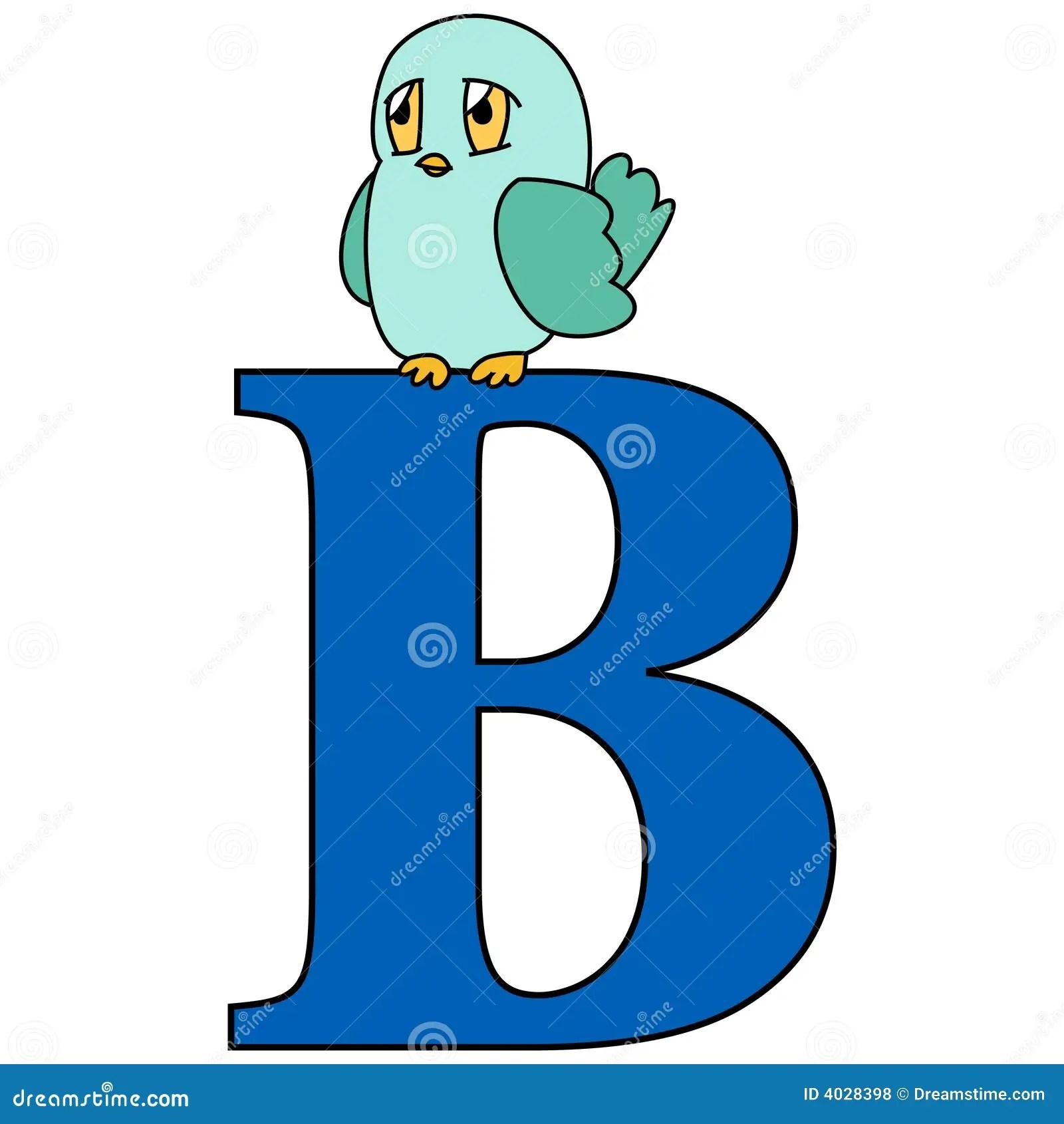 Alphabet Letter B Stock Vector Illustration Of