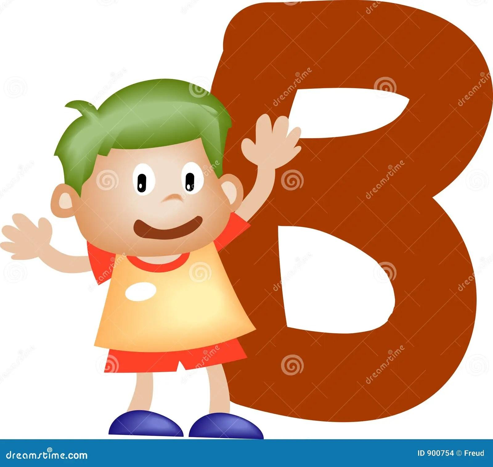 Alphabet Letter B Boy Stock Images
