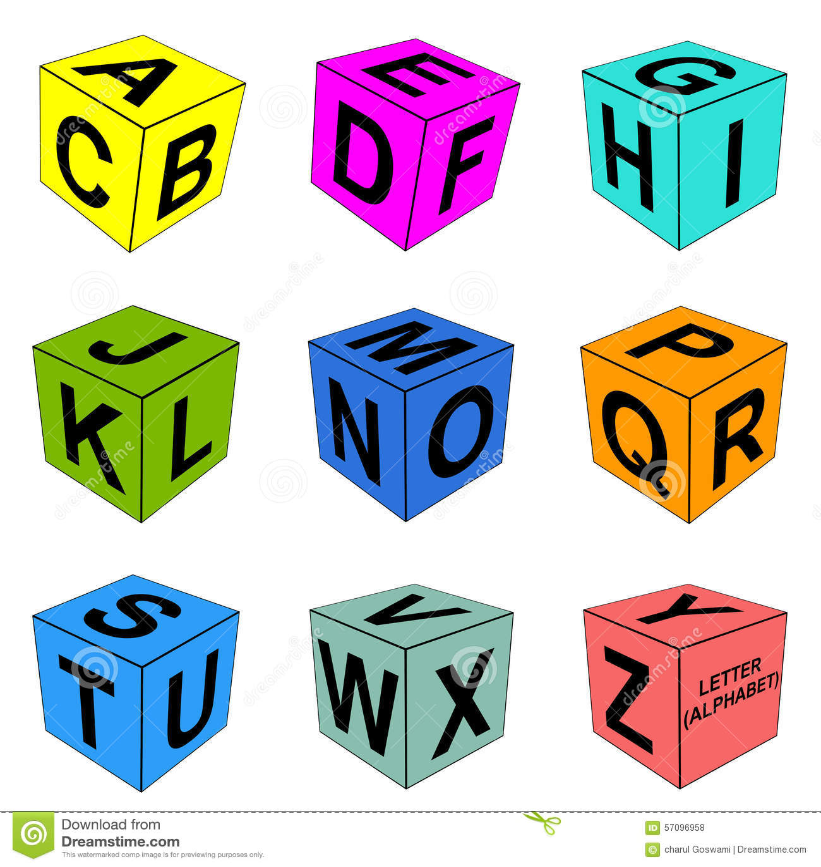 Alphabet Letter Dice Stock Illustration Image Of Edify