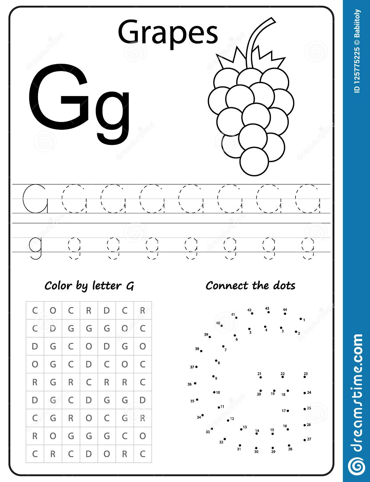 Writing Letter G Worksheet Writing A Z Alphabet
