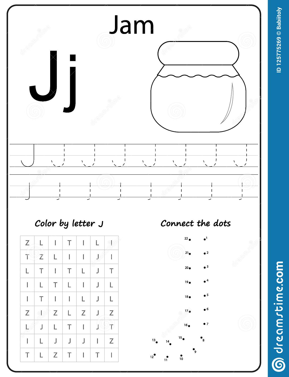 Writing Letter J Worksheet Writing A Z Alphabet Exercises Game For Kids Stock Vector