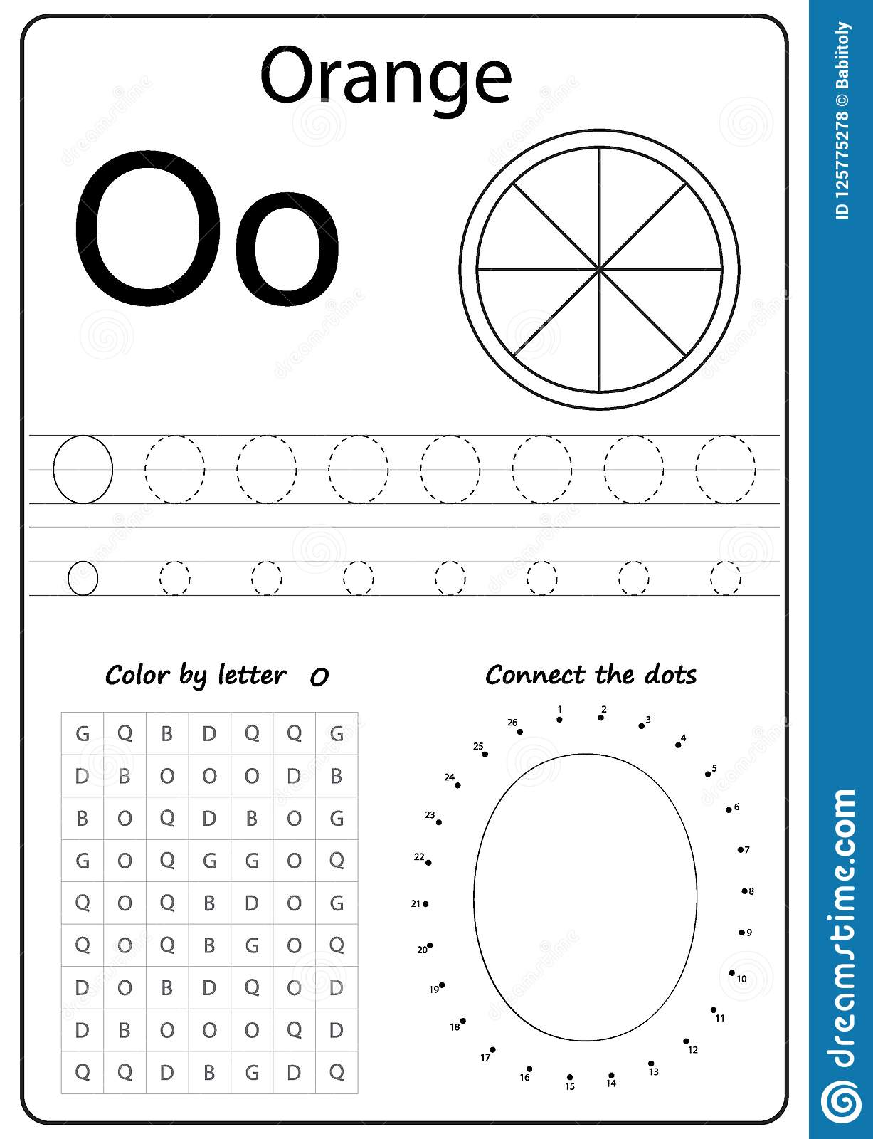 Writing Letter O Worksheet Writing A Z Alphabet Exercises Game For Kids Stock Vector