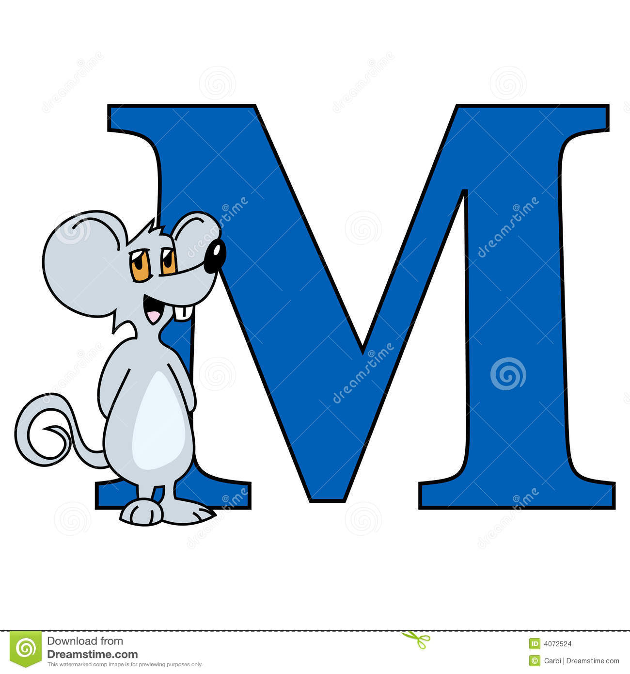 Alphabet Letter M Stock Vector Illustration Of Mouse