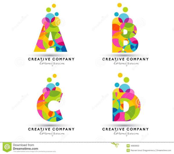 Alphabet Letters Logo Stock Vector. Illustration Of