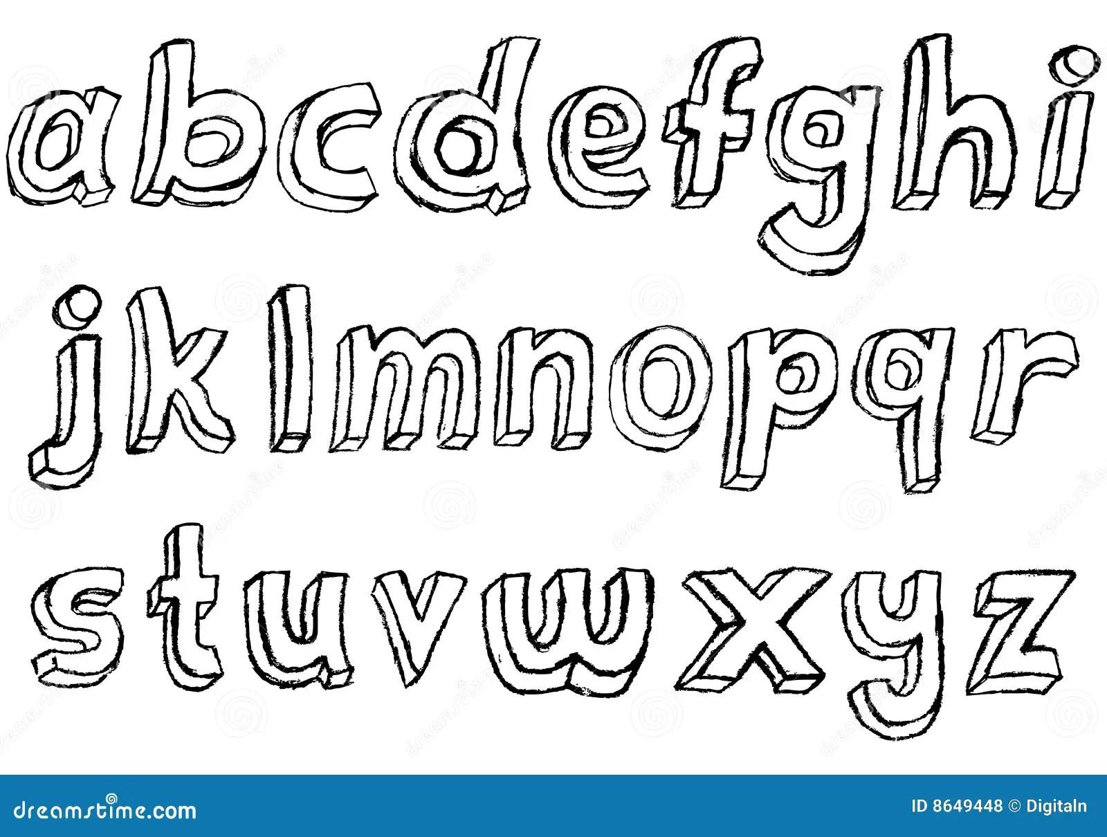 Alphabet Minuscule Tire Par La Main Sale Photos Libres De
