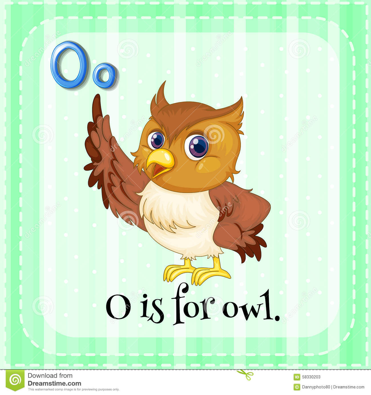 Alphabet O Is For Owl Stock Vector Illustration Of