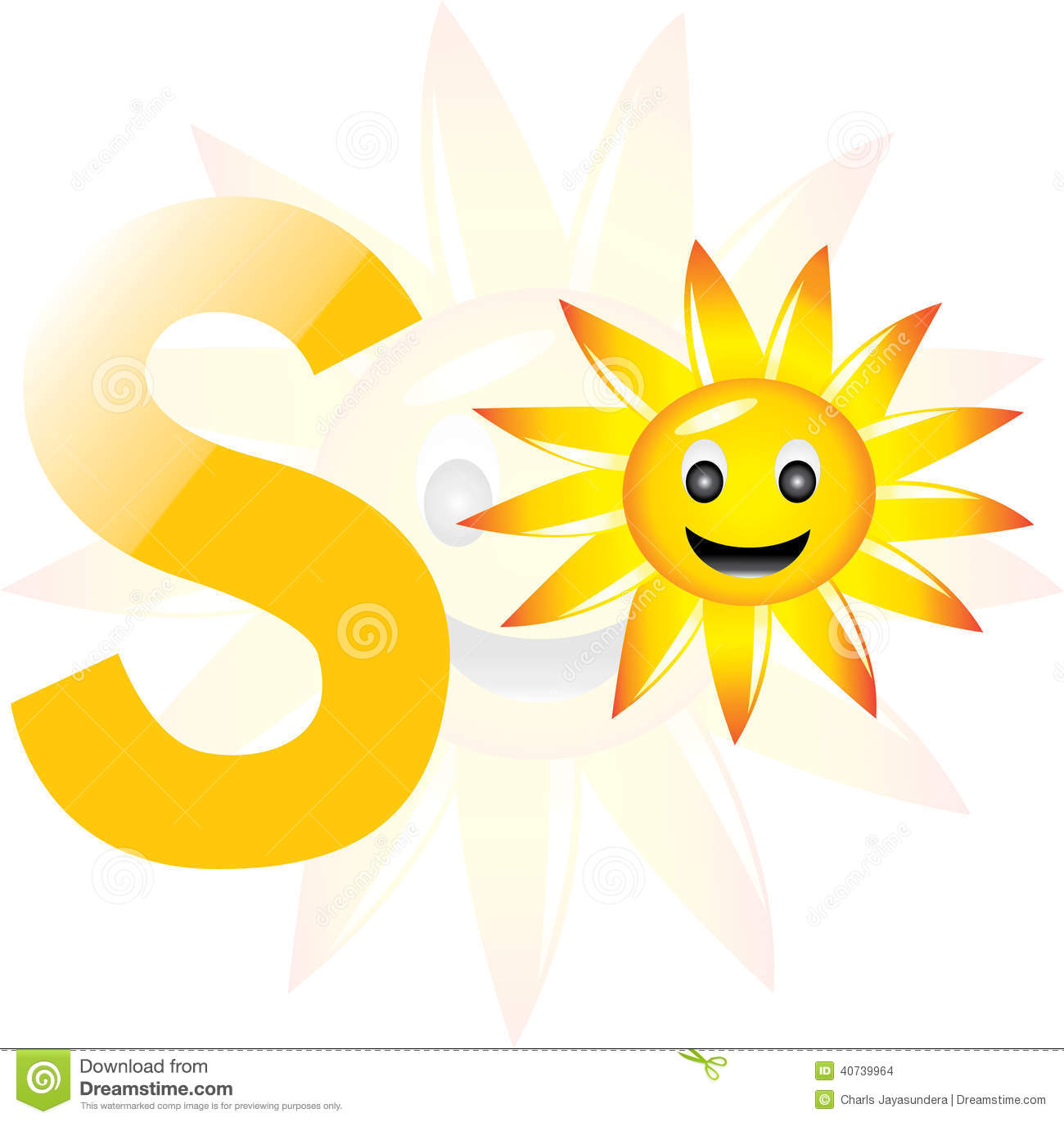 Alphabet S For Sun Stock Illustration Illustration Of