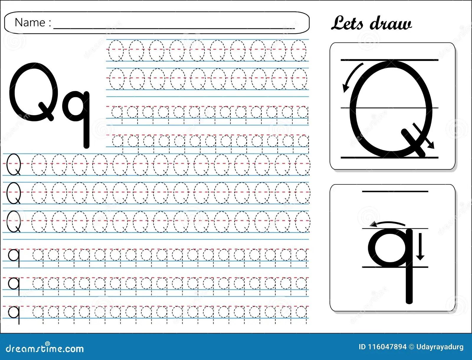 Qq Worksheet For Kindergarten