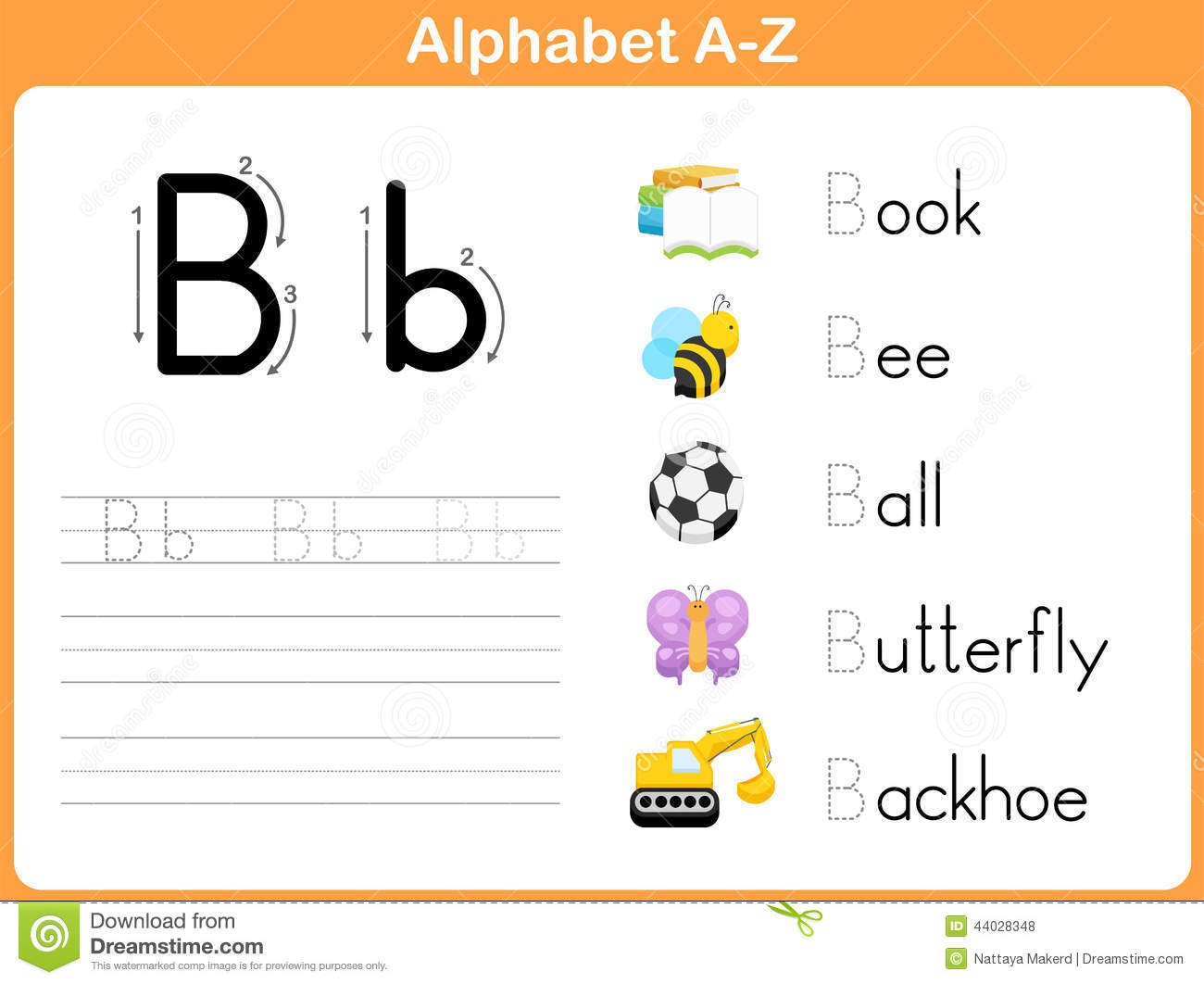 Alphabet Tracing Worksheet Stock Vector Illustration Of Spelling