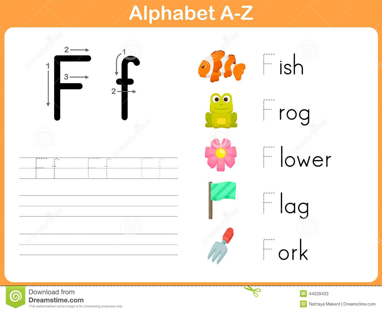 Alphabet Tracing Worksheet Stock Vector Illustration Of Child