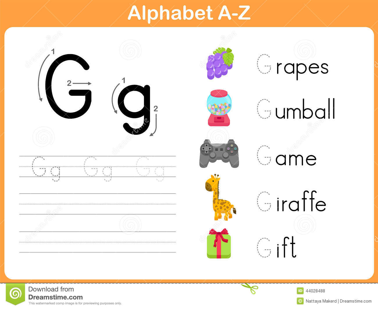 Alphabet Tracing Worksheet Stock Vector Illustration Of Language