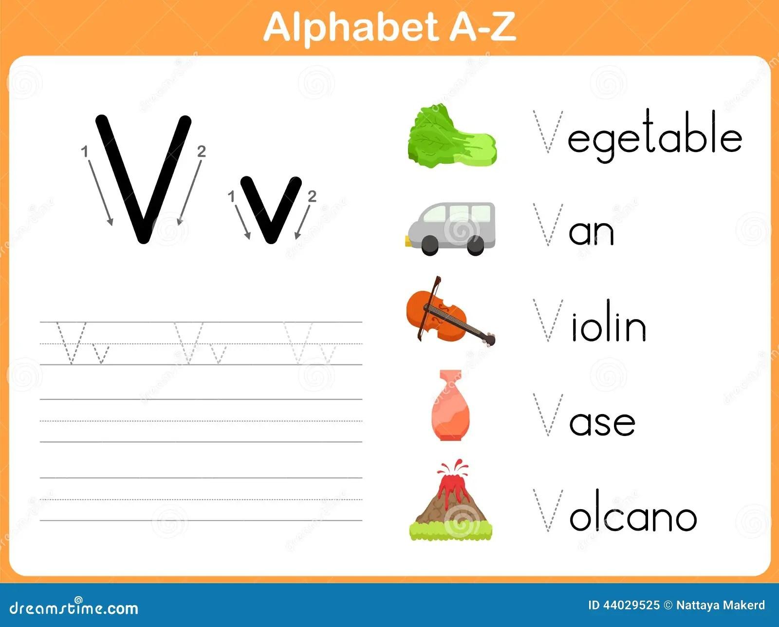 Alphabet Tracing Worksheet Stock Vector Illustration Of Language