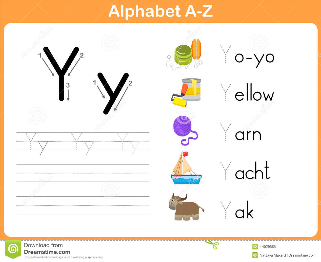 Alphabet Tracing Worksheet Stock Vector Illustration Of Lined